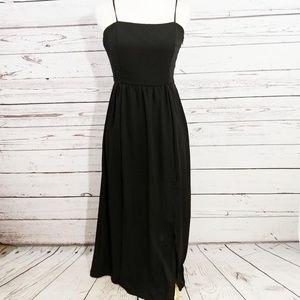 Silence + Noise UO smocked black dress